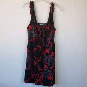 Urban Outfitters Kimchi Blue Red Floral Dress sz M
